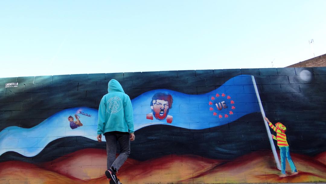 Wallspot - LaCastillo - TRUE FLAG - Barcelona - Poble Nou - Graffity - Legal Walls - Illustration, Stencil, Others
