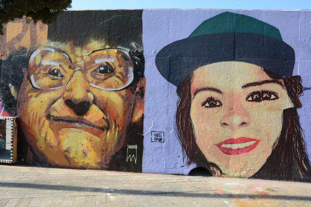 Wallspot - Lluís Olivé - MANU MANU & IVES ONE - Barcelona - Tres Xemeneies - Graffity - Legal Walls - Illustration
