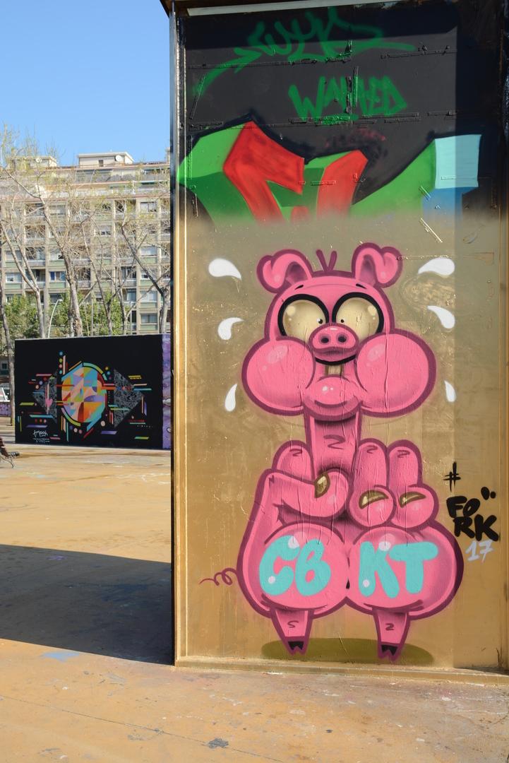 Wallspot - Lluís Olivé - FORK ONE & TIM MARSH - Barcelona - Tres Xemeneies - Graffity - Legal Walls - Illustration