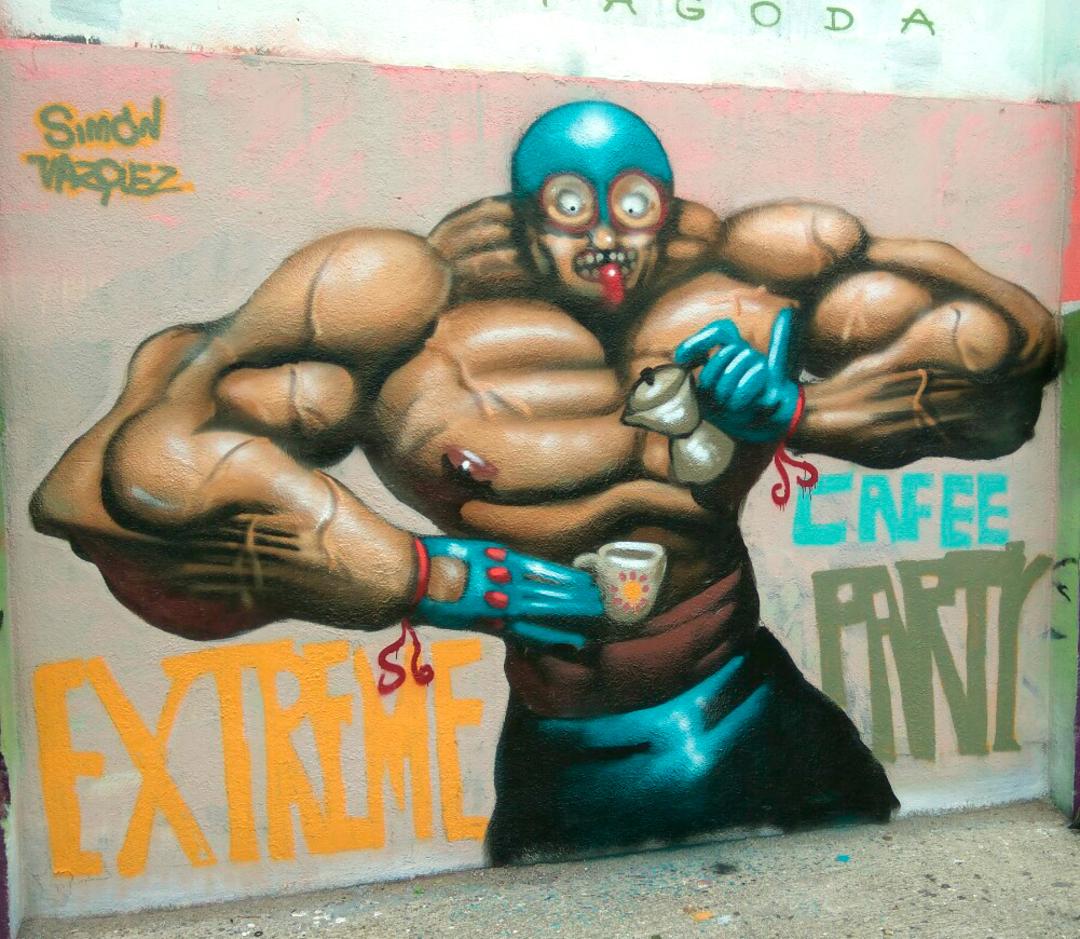 Wallspot - Simon - Agricultura - Simon - Barcelona - Agricultura - Graffity - Legal Walls - Illustration