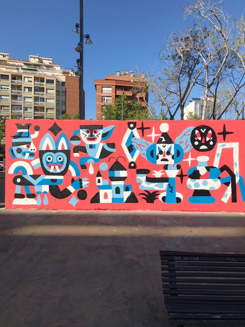 Wallspot - Osier Luther -  - Barcelona - Tres Xemeneies - Graffity - Legal Walls -