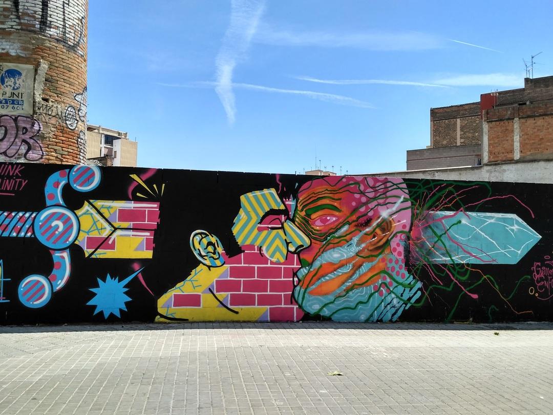 Wallspot - evalop - evalop - Proyecto 29/04/2017 - Barcelona - Poble Nou - Graffity - Legal Walls - Il·lustració