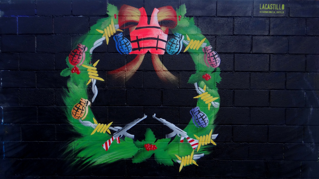 Wallspot - LaCastillo -  CHRISTMAS WITHOUT SHELTER - Barcelona - Poble Nou - Graffity - Legal Walls - Illustration, Stencil, Others
