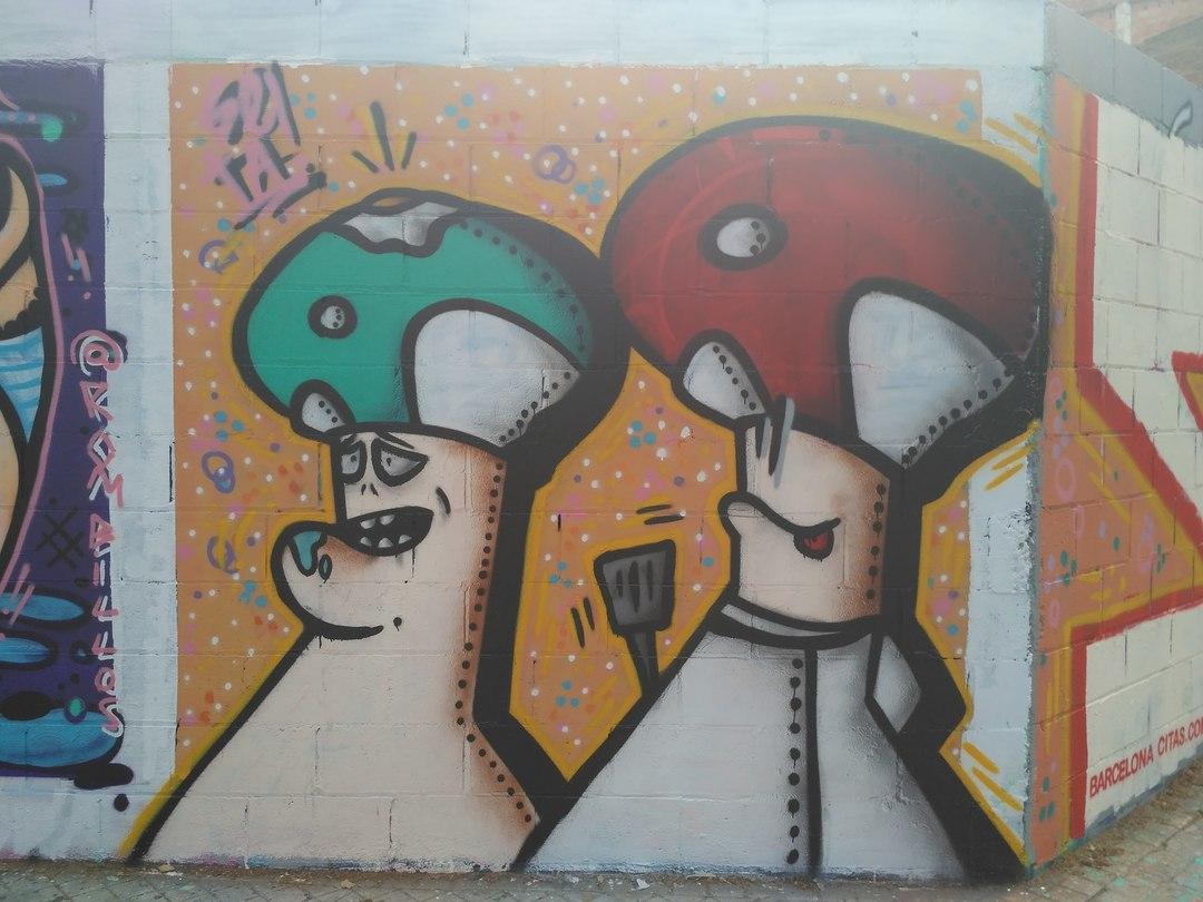 Wallspot - evalop - evalop - Project 19/05/2017 - Barcelona - Poble Nou - Graffity - Legal Walls - Illustration - Artist - setabcn