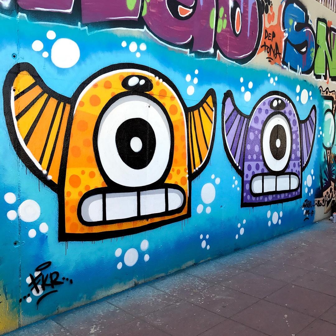 Wallspot - Mr.M - Mas Guinardó - Mr.M - Barcelona - Mas Guinardó - Graffity - Legal Walls - Illustration