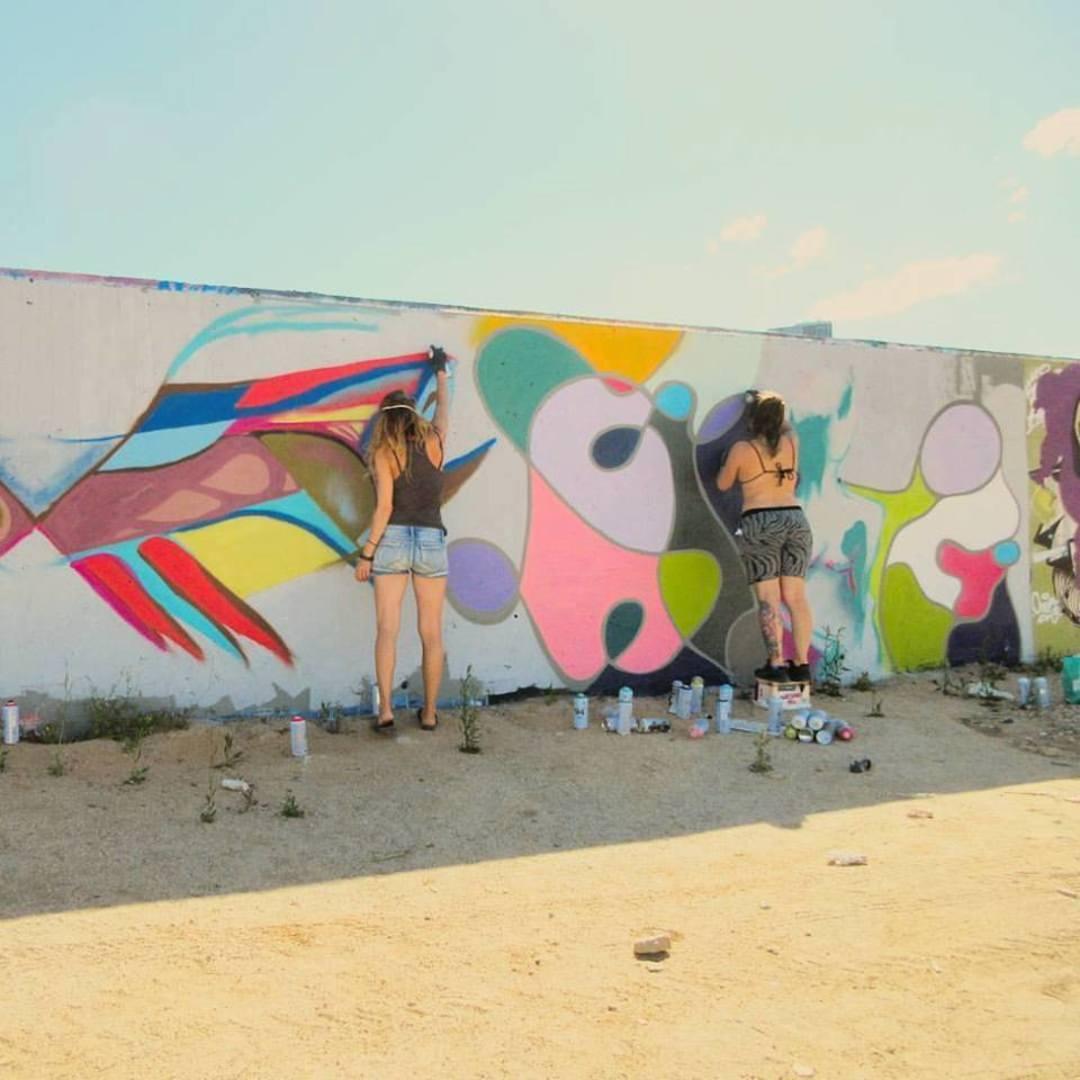 Wallspot - arububu - BuBu at Forum beach - alongside Audifax - Barcelona - Forum beach - Graffity - Legal Walls - Others