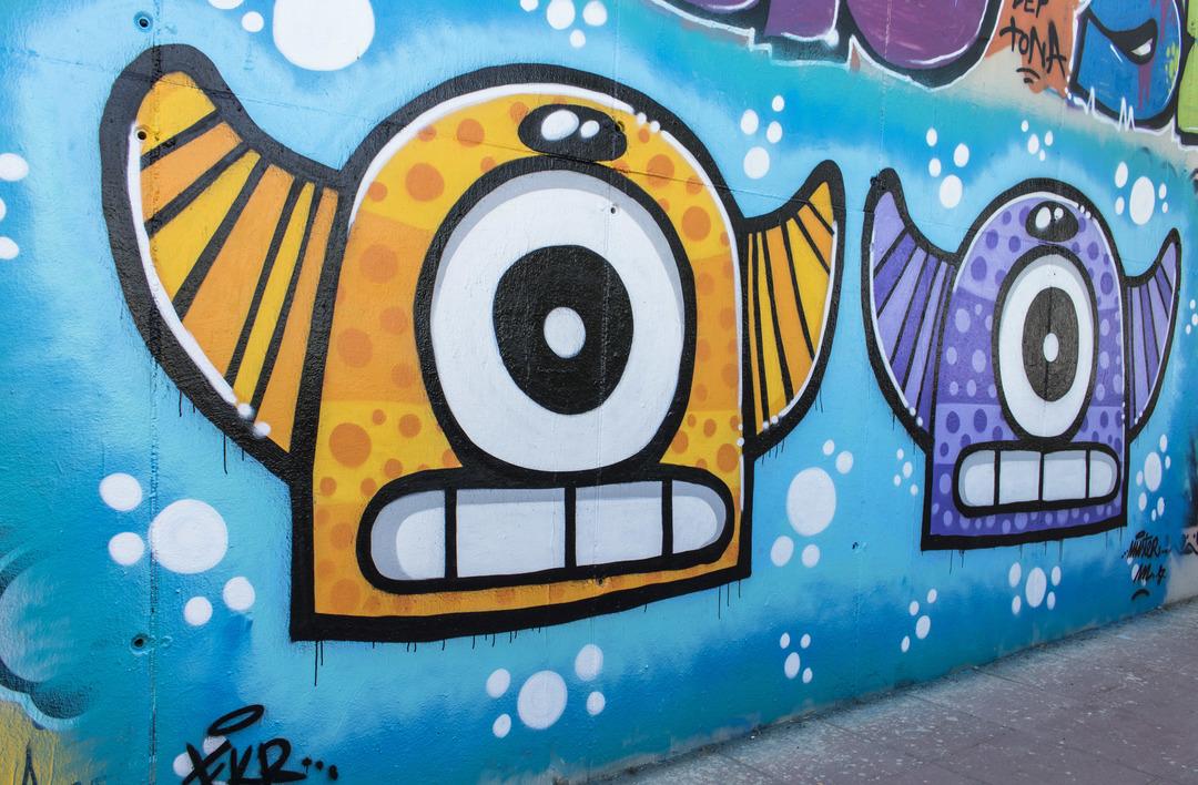 Wallspot - cbs350 - Mr.M - Barcelona - Mas Guinardó - Graffity - Legal Walls - Illustration - Artist - Mr.M
