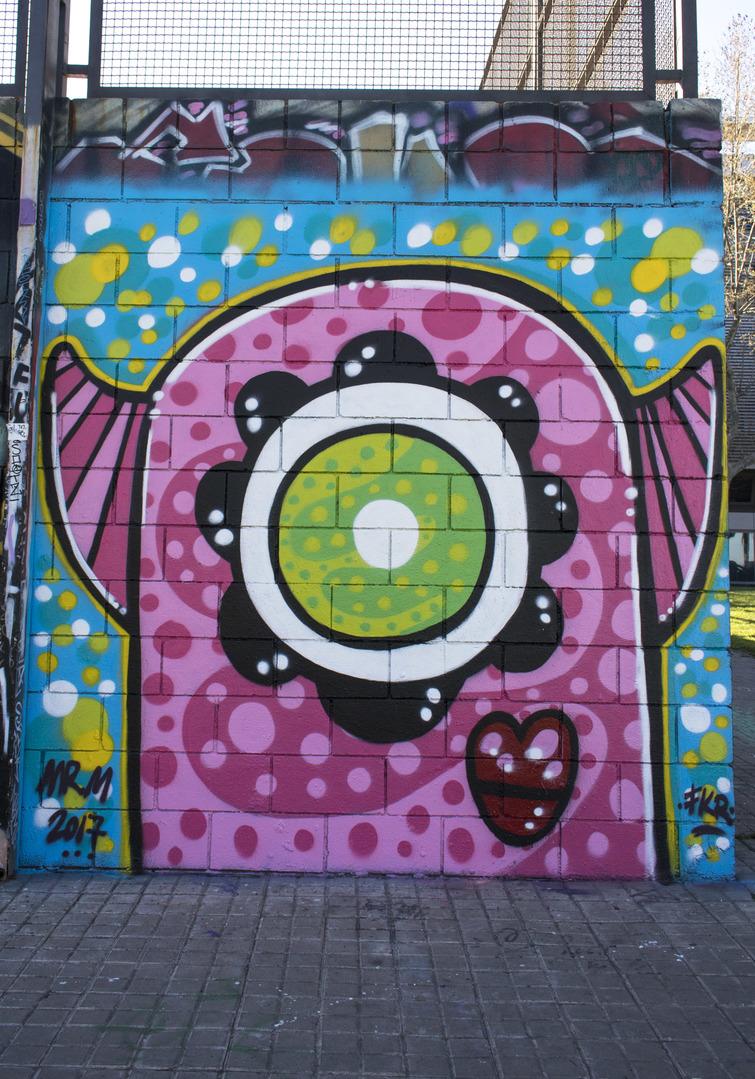 Wallspot - cbs350 - Mr.M - Barcelona - Drassanes - Graffity - Legal Walls - Illustration