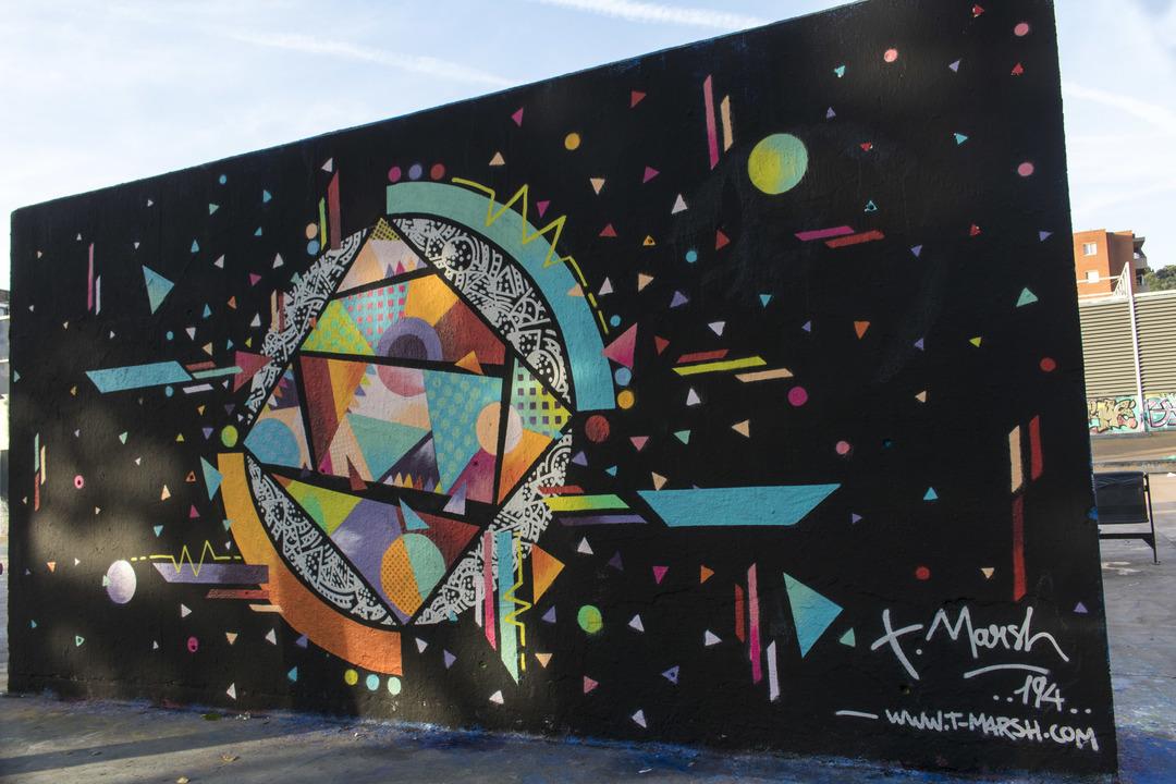 Wallspot - cbs350 - Tim Marsh - Barcelona - Tres Xemeneies - Graffity - Legal Walls - Illustration - Artist - TimMarsh