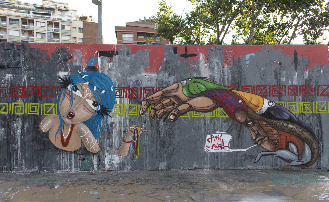 Wallspot - cbs350 - cbs350  - Barcelona - Tres Xemeneies - Graffity - Legal Walls - Illustration