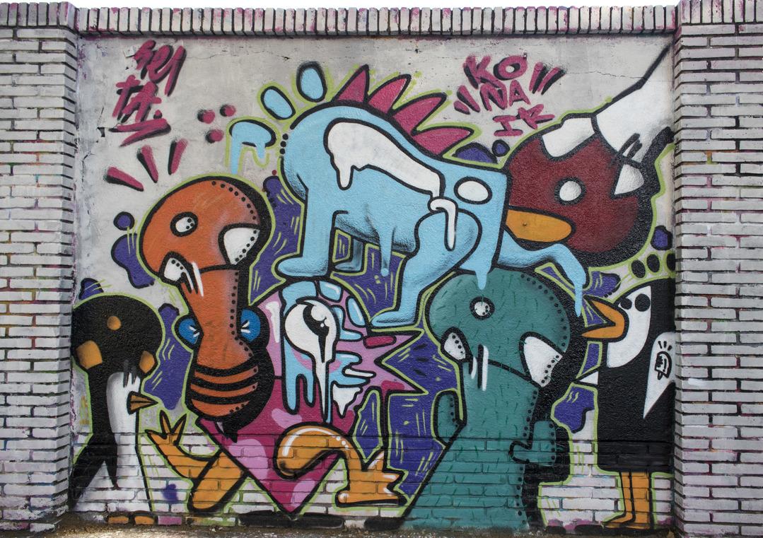 Wallspot - cbs350 - seta+konair - Barcelona - Selva de Mar - Graffity - Legal Walls - Illustration