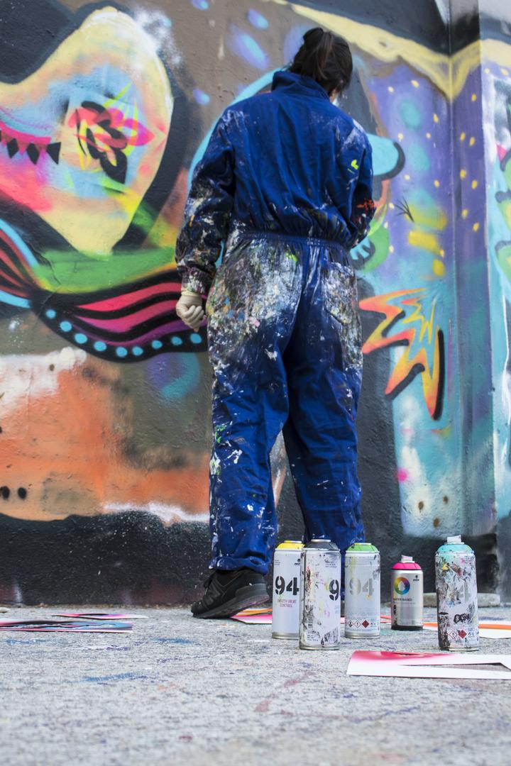 Wallspot - cbs350 - PROVES DE COLOR - Barcelona - Agricultura - Graffity - Legal Walls - Illustration