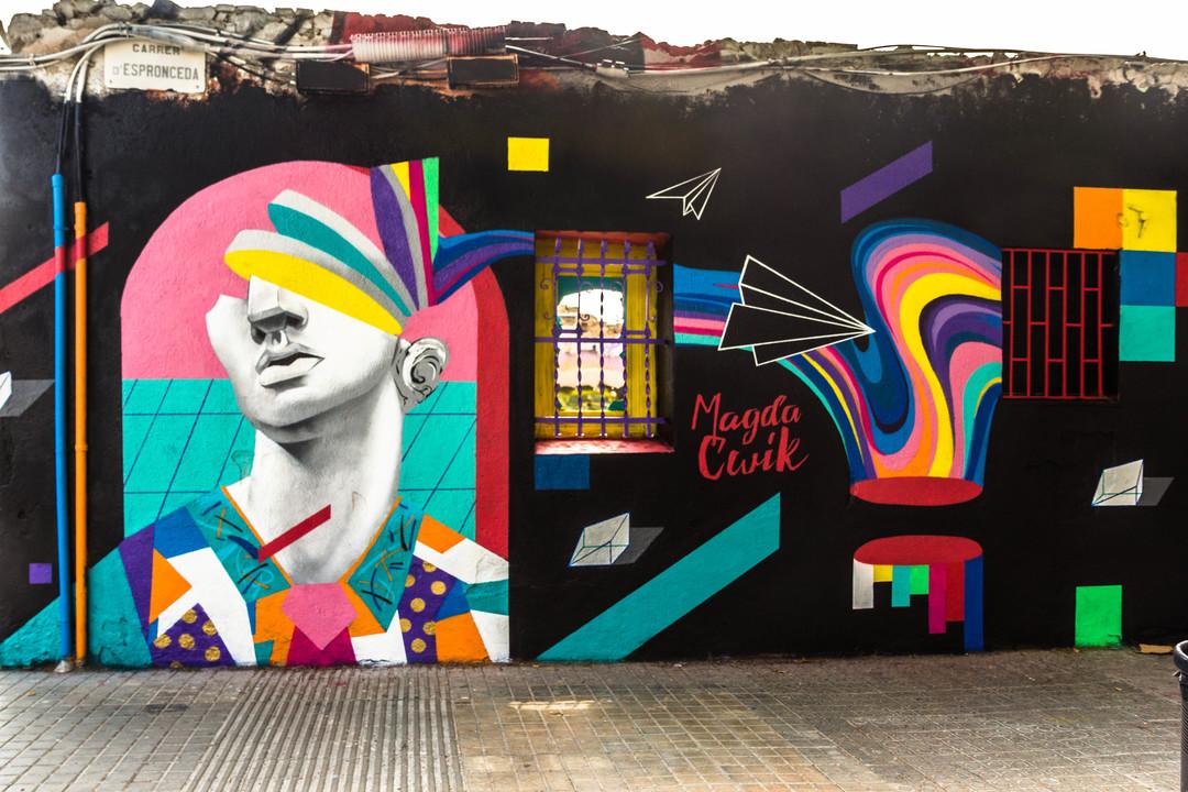 Wallspot - JOAN PIÑOL - JOAN PIÑOL - Projecte 11/07/2017 - Barcelona - Western Town - Graffity - Legal Walls - Illustration - Artist - Magda Ćwik