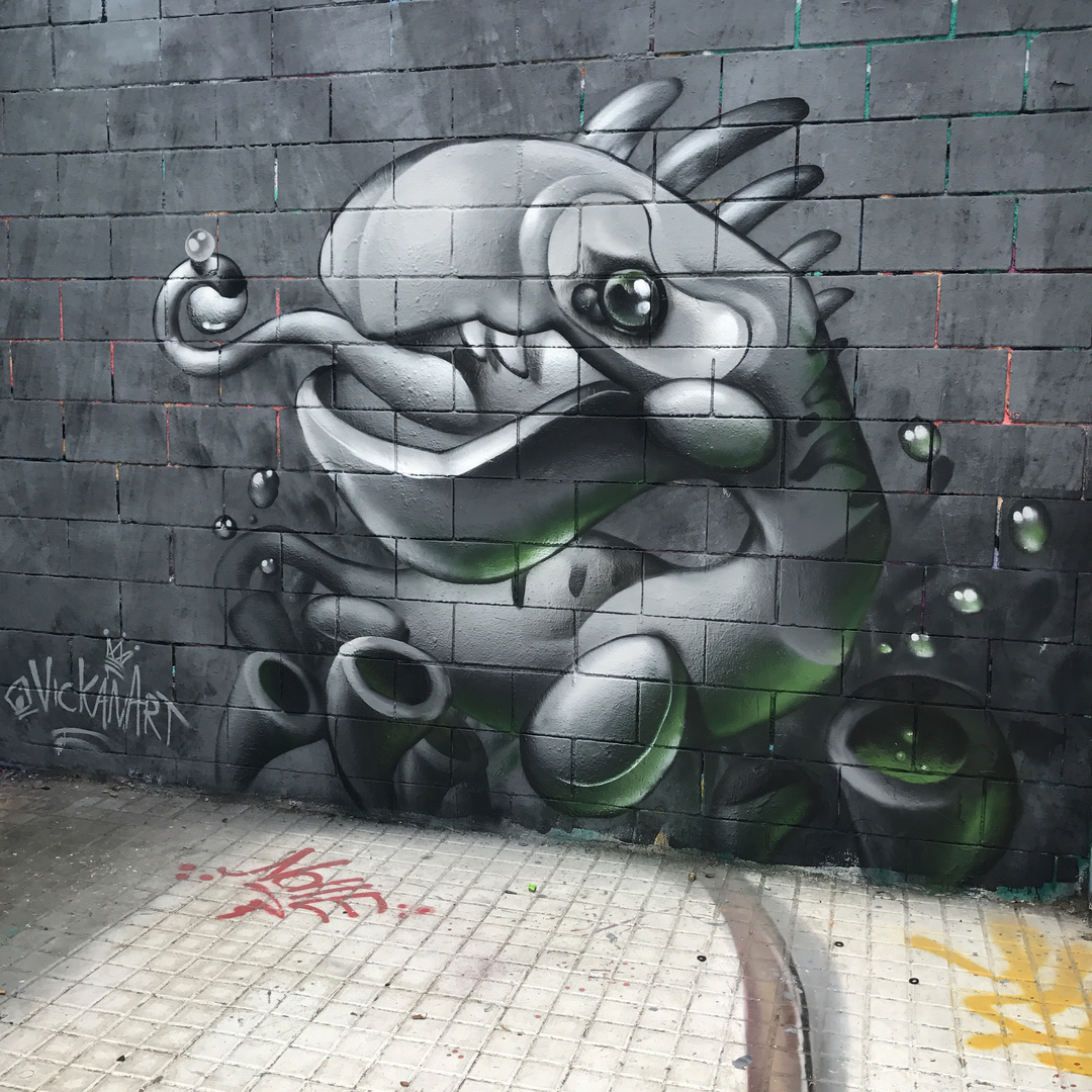 Wallspot - VickanArt -  - Barcelona - Drassanes - Graffity - Legal Walls -