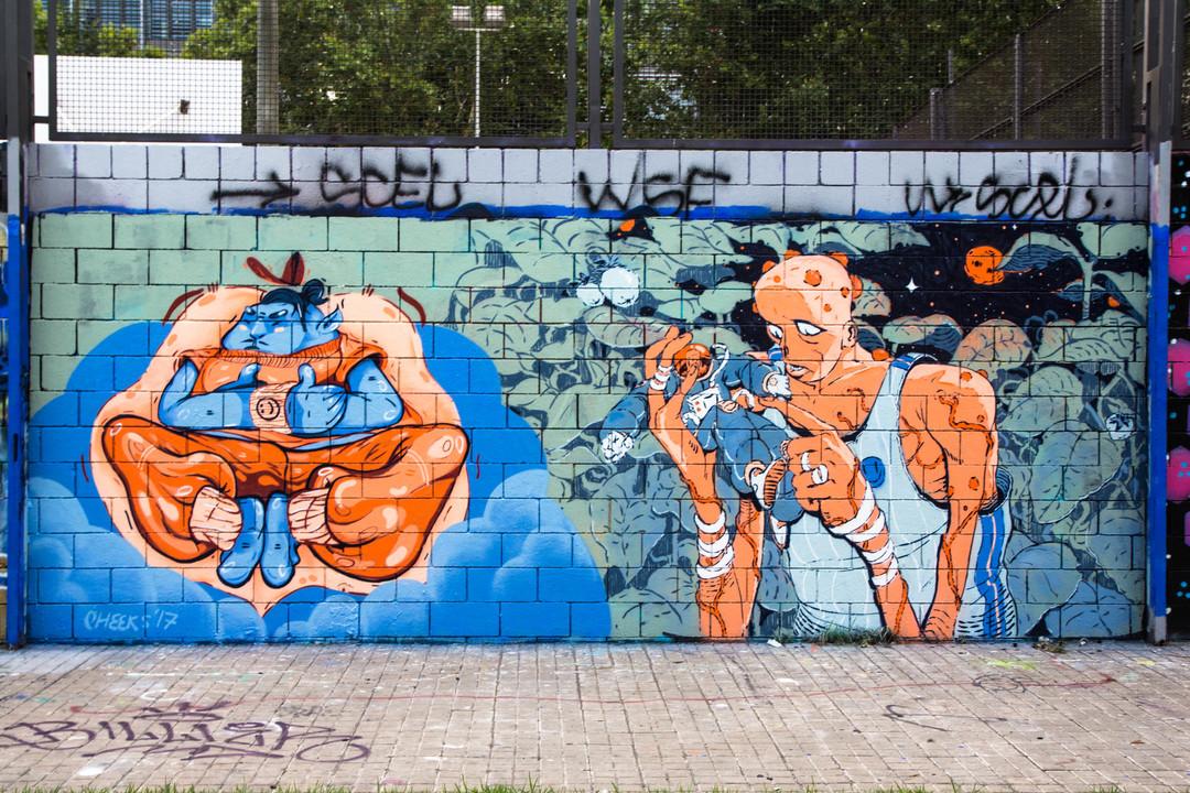 Wallspot - JOAN PIÑOL - JOAN PIÑOL - Project 19/07/2017 - Barcelona - Drassanes - Graffity - Legal Walls -  - Artist - cheeks