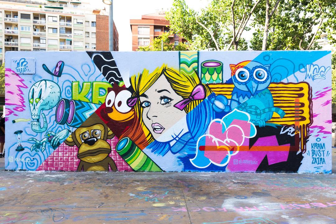 Wallspot - JOAN PIÑOL - JOAN PIÑOL - Project 23/07/2017 - Barcelona - Tres Xemeneies - Graffity - Legal Walls -