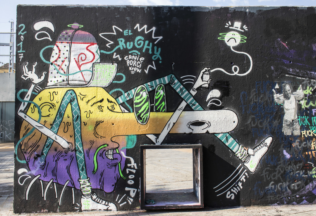 Wallspot - cbs350 - el Rughi - Barcelona - Tres Xemeneies - Graffity - Legal Walls - Illustration