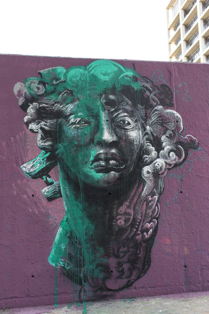 Wallspot - cbs350 - S.Waknine - Barcelona - Tres Xemeneies - Graffity - Legal Walls - Illustration
