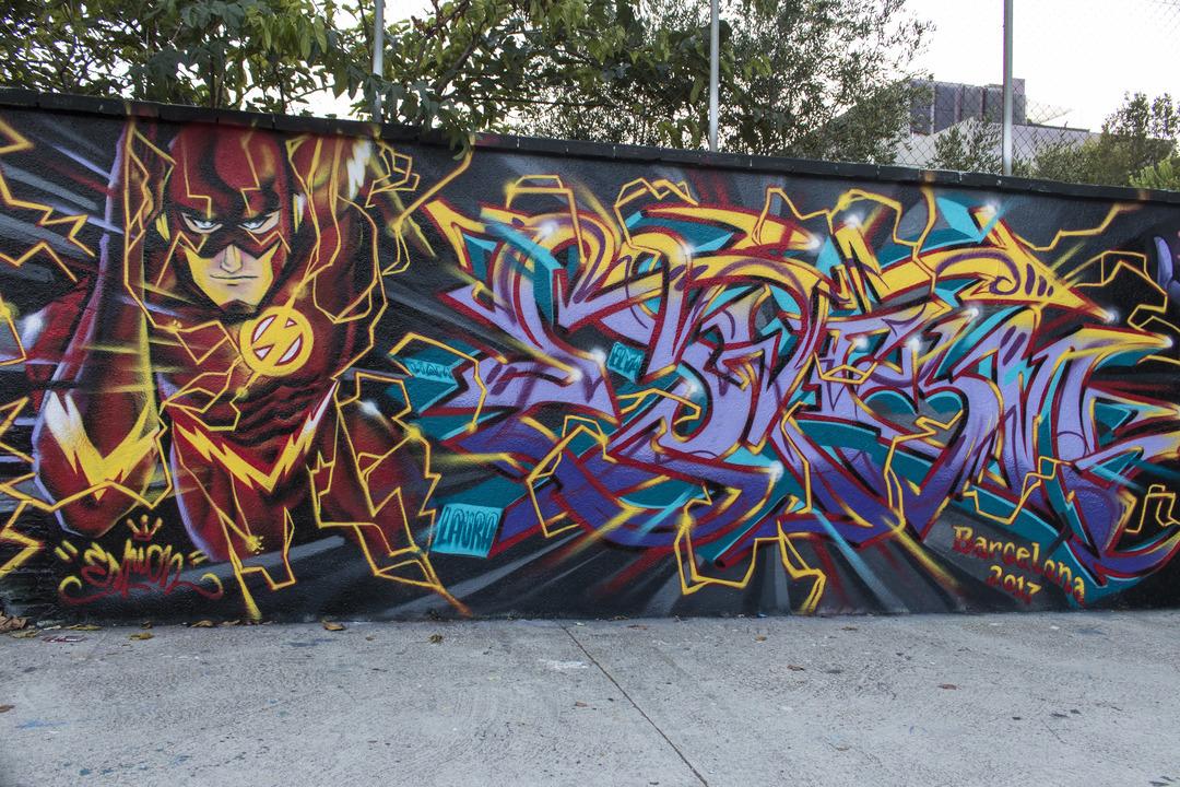 Wallspot - cbs350 - Espion - Barcelona - Agricultura - Graffity - Legal Walls - Letters, Illustration