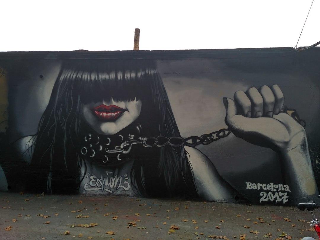 Wallspot - evalop - Espion - Barcelona - Selva de Mar - Graffity - Legal Walls - Il·lustració - Artist - Espion