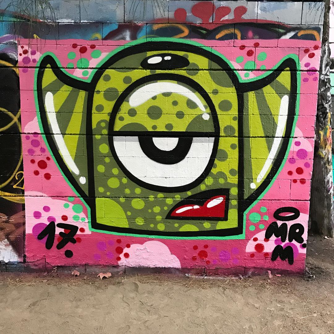 Wallspot - Mr.M - Drassanes - Mr.M - Barcelona - Drassanes - Graffity - Legal Walls -