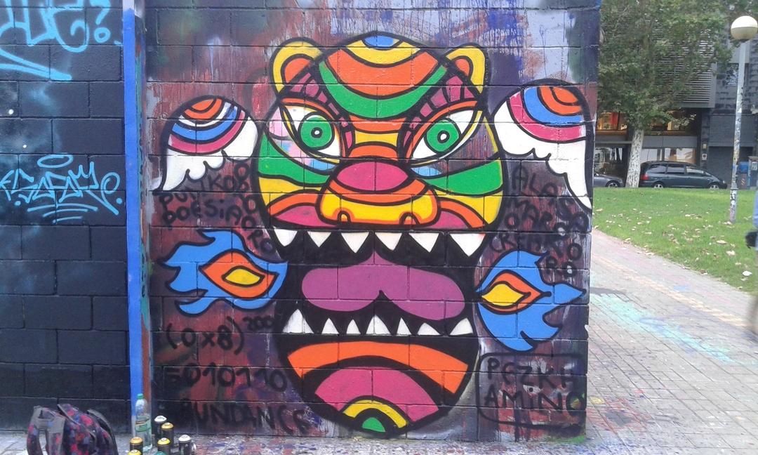 Wallspot - Pezkhamino - Drassanes - Pezkhamino - Barcelona - Drassanes - Graffity - Legal Walls - Illustration