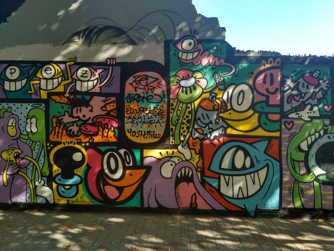 Wallspot - evalop - Kamil Escruela / El Pez / El Xupet Negre - Barcelona - Agricultura - Graffity - Legal Walls - Illustration