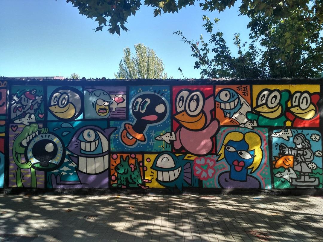 Wallspot - evalop - Kamil Escruela / El Pez / El Xupet Negre - Barcelona - Agricultura - Graffity - Legal Walls - Il·lustració - Artist - xupet