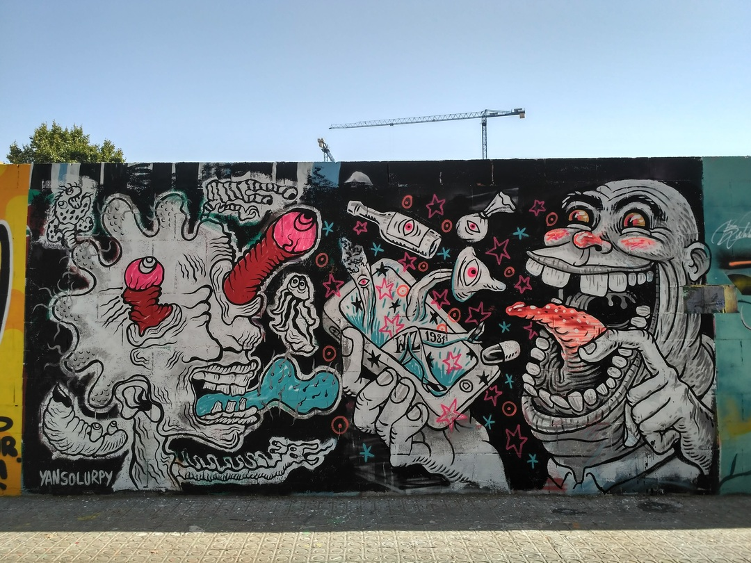 Wallspot - evalop - Yan Solurpy - Barcelona - Poble Nou - Graffity - Legal Walls - Illustration - Artist - Yansolurpy