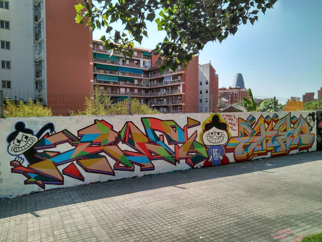 Wallspot - alek - Drassanes - alek-guidogee - Barcelona - Drassanes - Graffity - Legal Walls - Letters