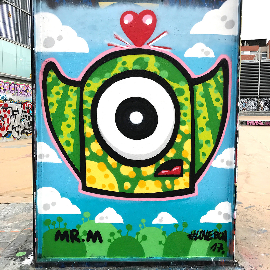 Wallspot - Mr.M - Tres Xemeneies - Mr.M - Barcelona - Tres Xemeneies - Graffity - Legal Walls -