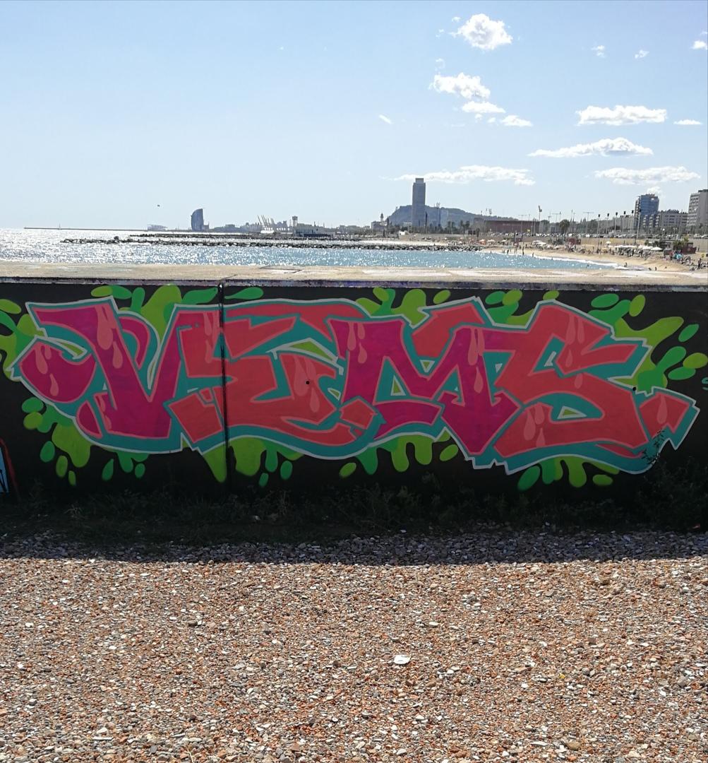 Wallspot - Vemsgraffiti -  - Barcelona - Forum beach - Graffity - Legal Walls -