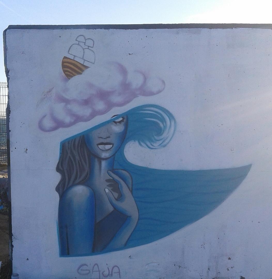 Wallspot - gaja - Forum beach - gaja - Barcelona - Forum beach - Graffity - Legal Walls - Illustration