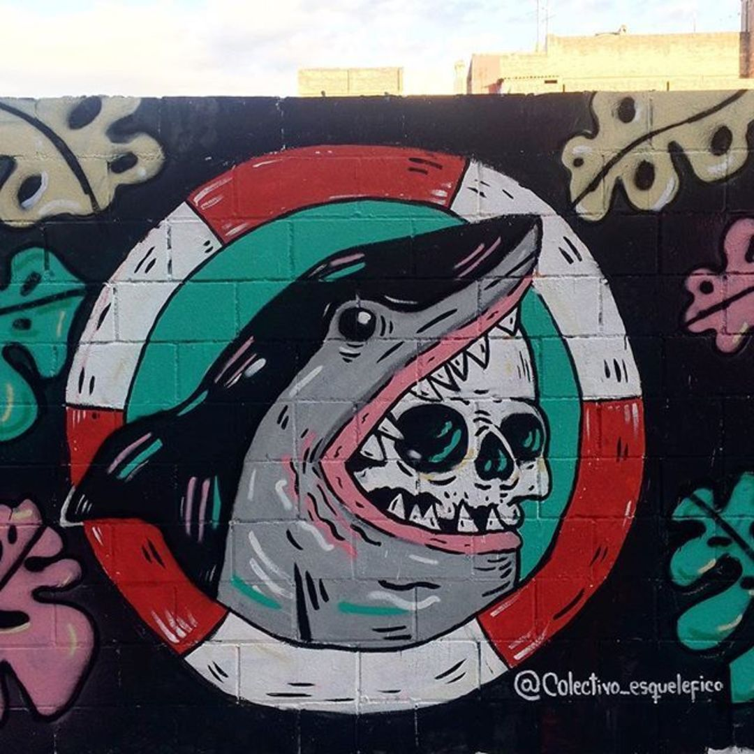 Wallspot - henrysaenz - shark - Barcelona - Poble Nou - Graffity - Legal Walls -