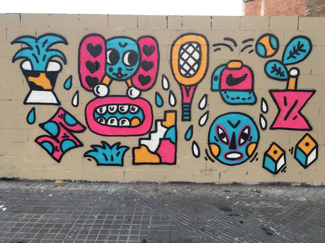 Wallspot - Osier Luther -  - Barcelona - Poble Nou - Graffity - Legal Walls -