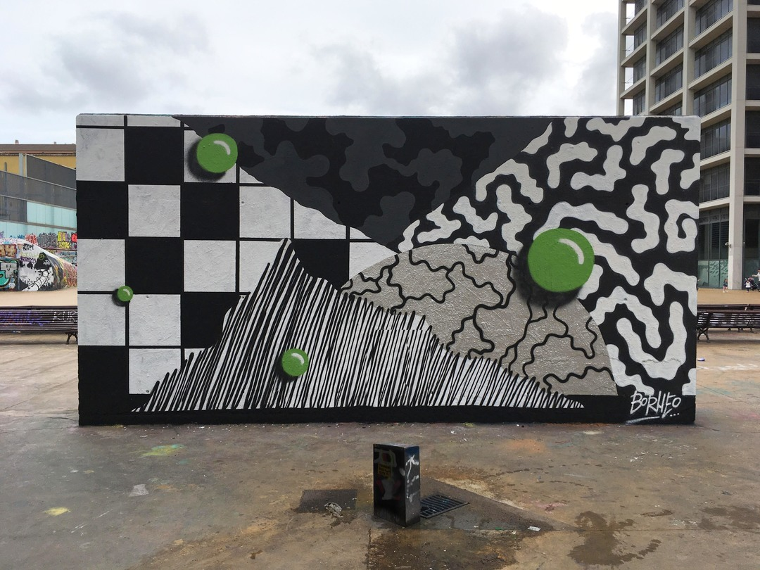 Wallspot - Borneo Modofoker - Tres Xemeneies - Borneo Modofoker - Barcelona - Tres Xemeneies - Graffity - Legal Walls - ,