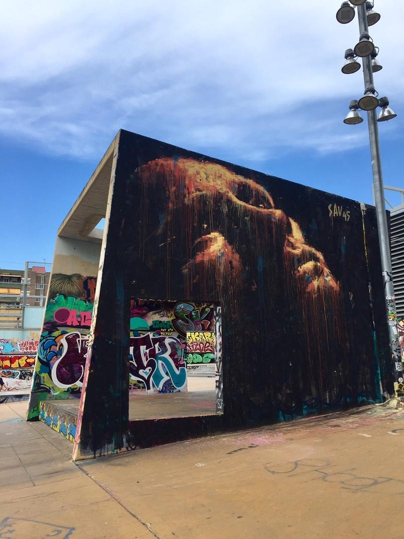 Wallspot - savf - Tres Xemeneies - sav45 - Barcelona - Tres Xemeneies - Graffity - Legal Walls -