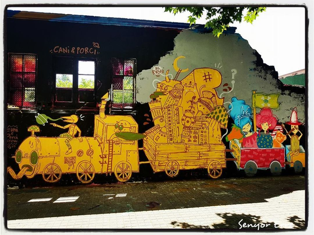 Wallspot - El Rughi - Crazy Train - Barcelona - Agricultura - Graffity - Legal Walls - Illustration