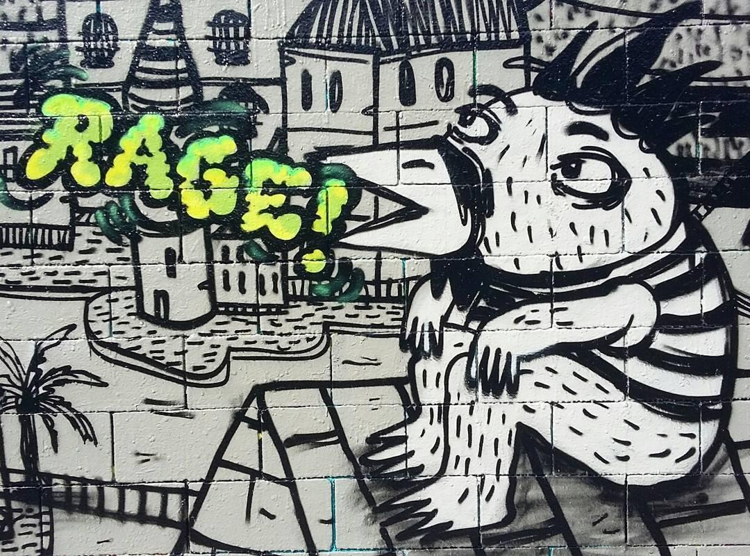 Wallspot - Ragestudio - Drassanes - Ragestudio - Barcelona - Drassanes - Graffity - Legal Walls - Ilustración