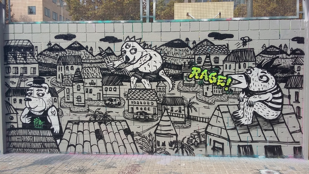 Wallspot - Ragestudio - Drassanes - Ragestudio - Barcelona - Drassanes - Graffity - Legal Walls - Illustration