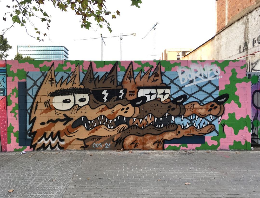 Wallspot - Borneo Modofoker - Poble Nou - Borneo Modofoker - Barcelona - Poble Nou - Graffity - Legal Walls - Il·lustració, Altres