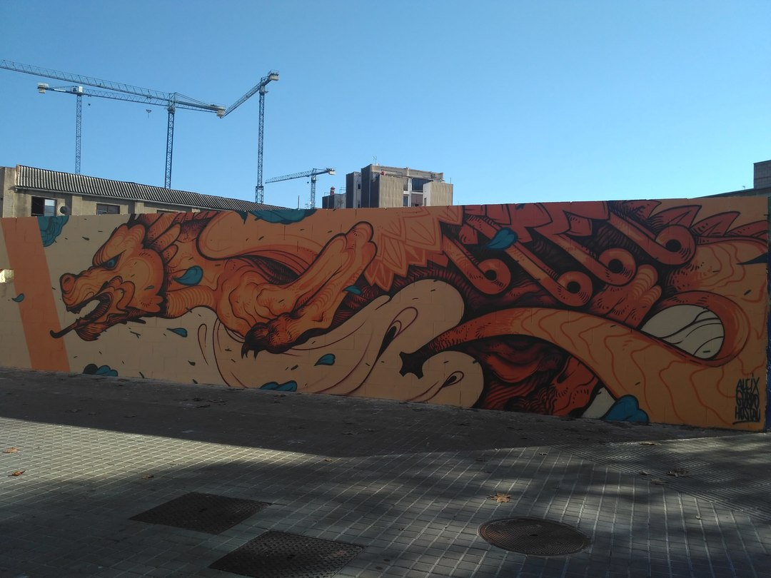 Wallspot - evalop - Aleix Gordo Hostau - Barcelona - Poble Nou - Graffity - Legal Walls -