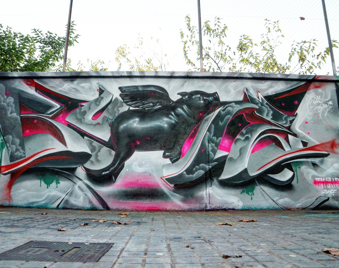 Wallspot - senyorerre3 - Art Bublegum - Barcelona - Agricultura - Graffity - Legal Walls - Illustration - Artist - Bublegum