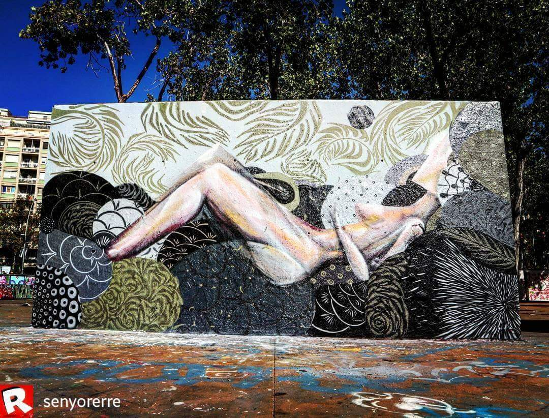 Wallspot - senyorerre3 - Art Rim Chiaradia & Julio Vieira - Barcelona - Tres Xemeneies - Graffity - Legal Walls - Illustration