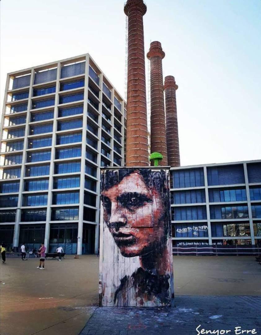 Wallspot - senyorerre3 - Art SAV45  - Barcelona - Tres Xemeneies - Graffity - Legal Walls - Illustration - Artist - savf