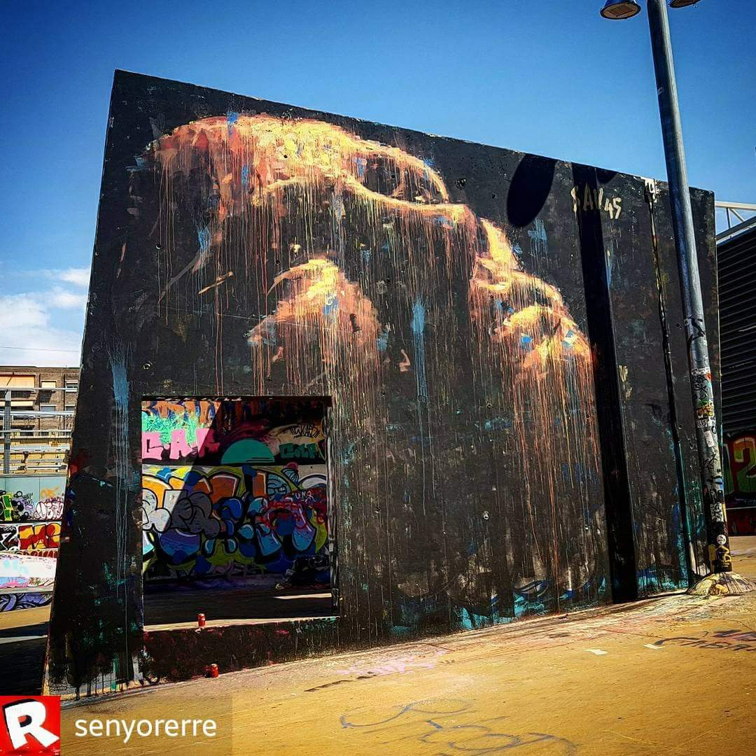 Wallspot - senyorerre3 - Art SAV45  - Barcelona - Tres Xemeneies - Graffity - Legal Walls -  - Artist - savf