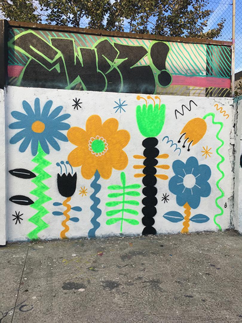Wallspot - EmilyE - Agricultura - EmilyE - Barcelona - Agricultura - Graffity - Legal Walls - Ilustración