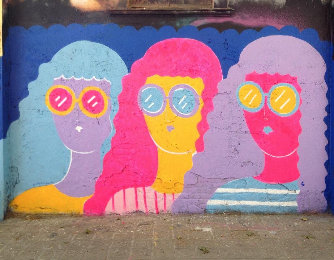 Wallspot - EmilyE - Selva de Mar - EmilyE - Barcelona - Selva de Mar - Graffity - Legal Walls - Ilustración