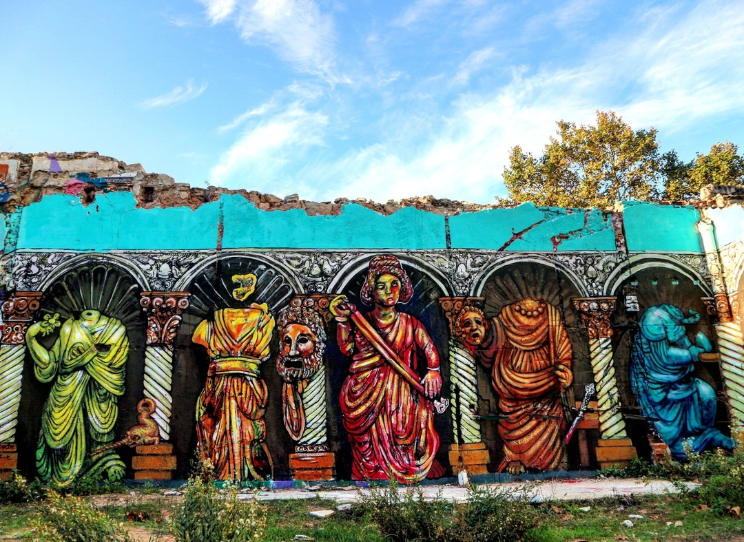 Wallspot - senyorerre3 - Art Carlos Atoche - Barcelona - Western Town - Graffity - Legal Walls - Illustration