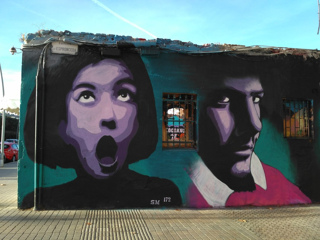Wallspot - evalop - evalop - Projecte 30/12/2017 - Barcelona - Western Town - Graffity - Legal Walls - Illustration - Artist - SM 172
